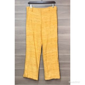 NWOT J. McLaughlin Yellow Silk Trousers